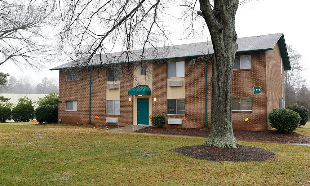 exterior of our brick apartment homes at Pressley Ridge Apartments