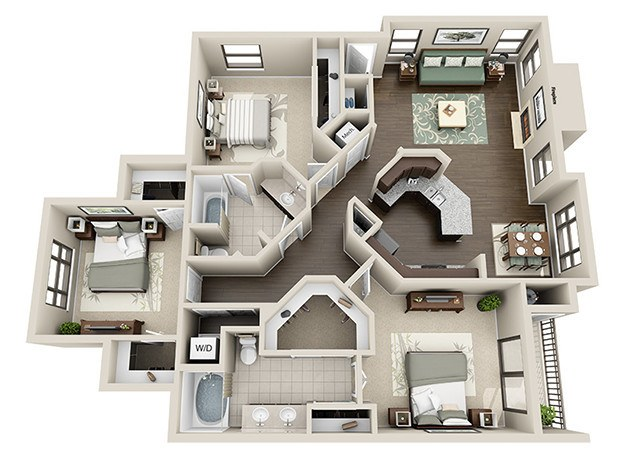 3 BedroomLuxury 1  2   3 Bedroom Apartments in Houston  TX. Three Bedroom Apartments In Houston Tx. Home Design Ideas