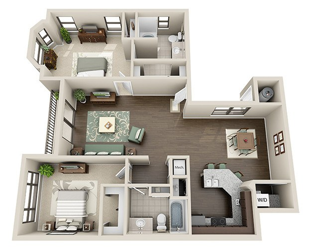 Luxury 1, 2 & 3 Bedroom Apartments in Houston, TX