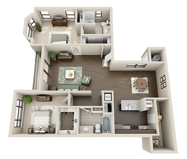 Genial 2 Bedroom