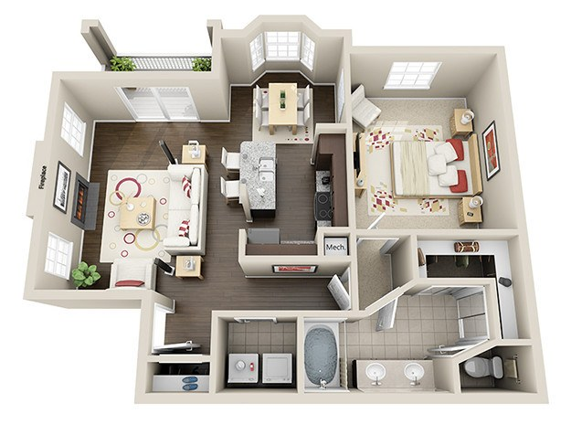 Luxury 1 & 2 Bedroom Apartments in Houston, TX