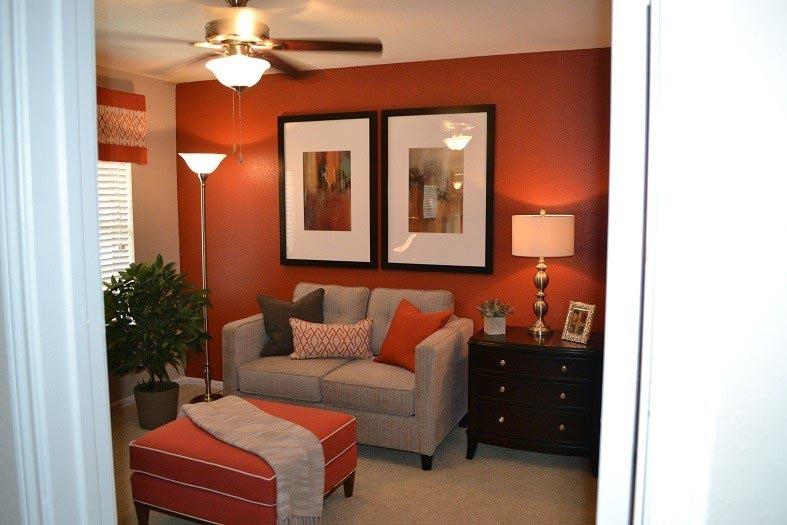 Modern living room at Vie at The Medical Center