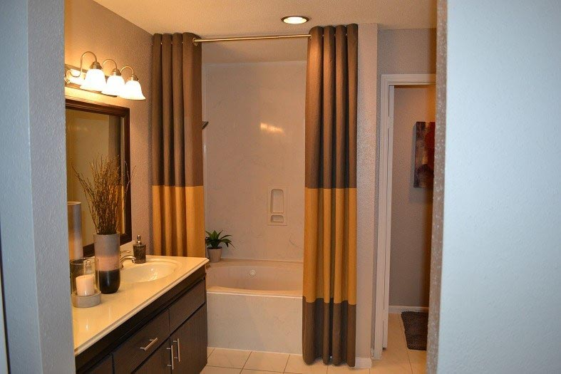 Modern bathroom at Vie at The Medical Center