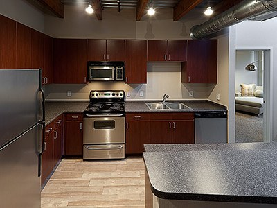 Our modern kitchens will make you want to cook for family and friends in your new apartment home here at The Depot.