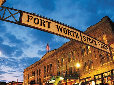 Our apartments here at  are right near the Fort Worth Stockyards.