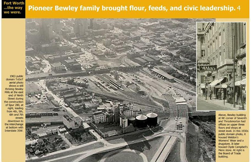 Aerial view of downtown Fort Worth in the early 1900's