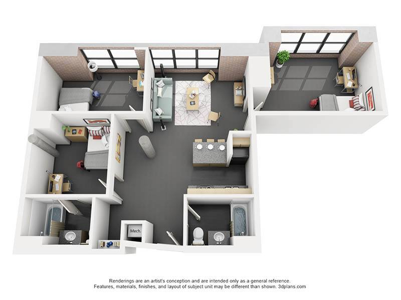 3 Bedroom. Affordable 1  2  3   4 Bedroom Student Apartments in Chicago  IL