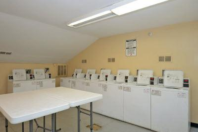 On-site laundry facilities for residents at Brookchester Apartments in New Milford.