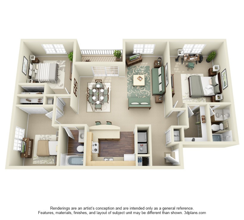 Three Bedroom Apartments Floor Plans 1, 2 & 3 bedroom apartments for rent in salisbury, md