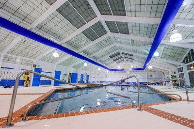 Indoor pool at apartments for rent at Mill Pond Village Apartments.