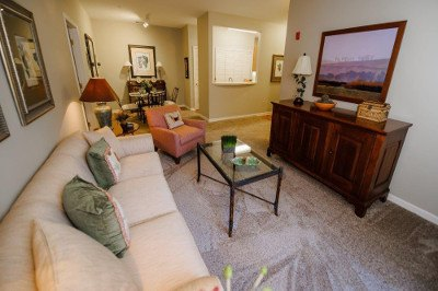 Living room at apartments for rent at Mill Pond Village Apartments.