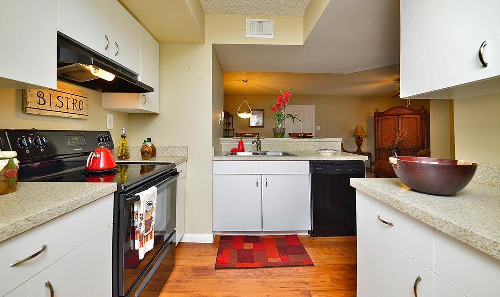 Kitchen at Palmetto Place Apartments in Miami.