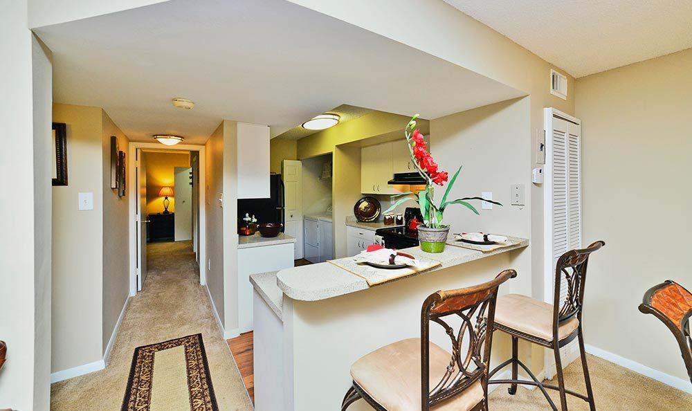 Open floor-plans at Palmetto Place Apartments in Miami.