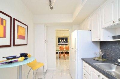 Beautiful kitchen at apartments for rent at Marina del Mar.