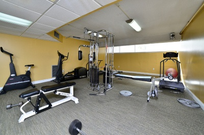 Fitness center at apartments for rent at Forest Place Apartments.