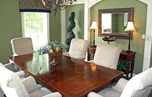 This photo of one of our model units at The Vinings at Newnan Lakes gives you an idea how you might decorate the dining room of your new home