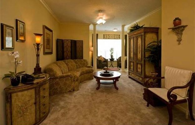 The living room of your new apartment home in Columbia, SC is a great spot to entertain guests