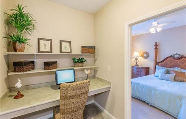 Every apartment home at our luxury community in Columbia has an office nook for those times you need to work from home