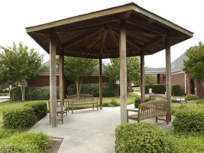Our gazebo at Laurel Springs is a tranquil spot to read a book or chat with your new neighbors