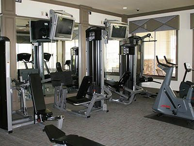 Fitness center at The Carlyle at Godley Station in Pooler, GA