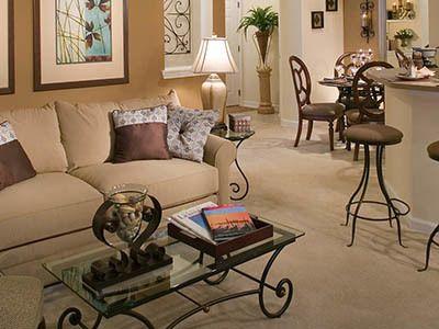 Living room at apartments in Pooler, GA