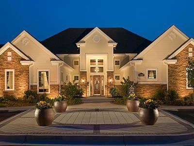 Night view of apartments in Pooler, GA