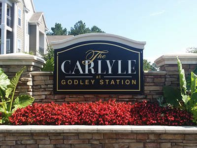 Signage at The Carlyle at Godley Station in Pooler, GA