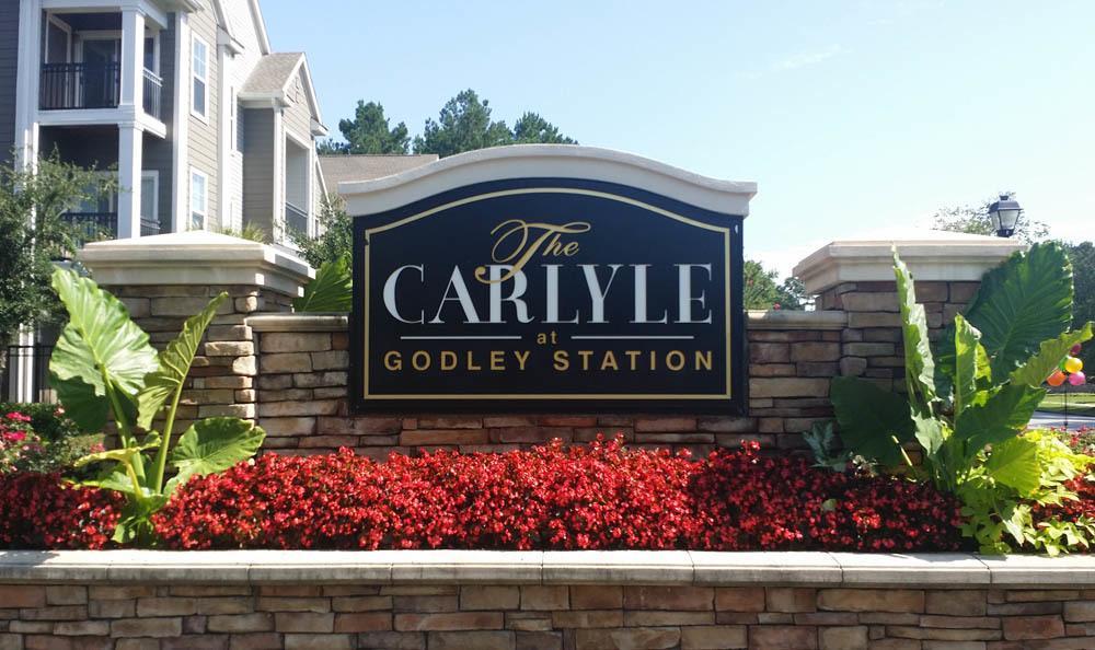 Signage at apartments in Pooler, GA
