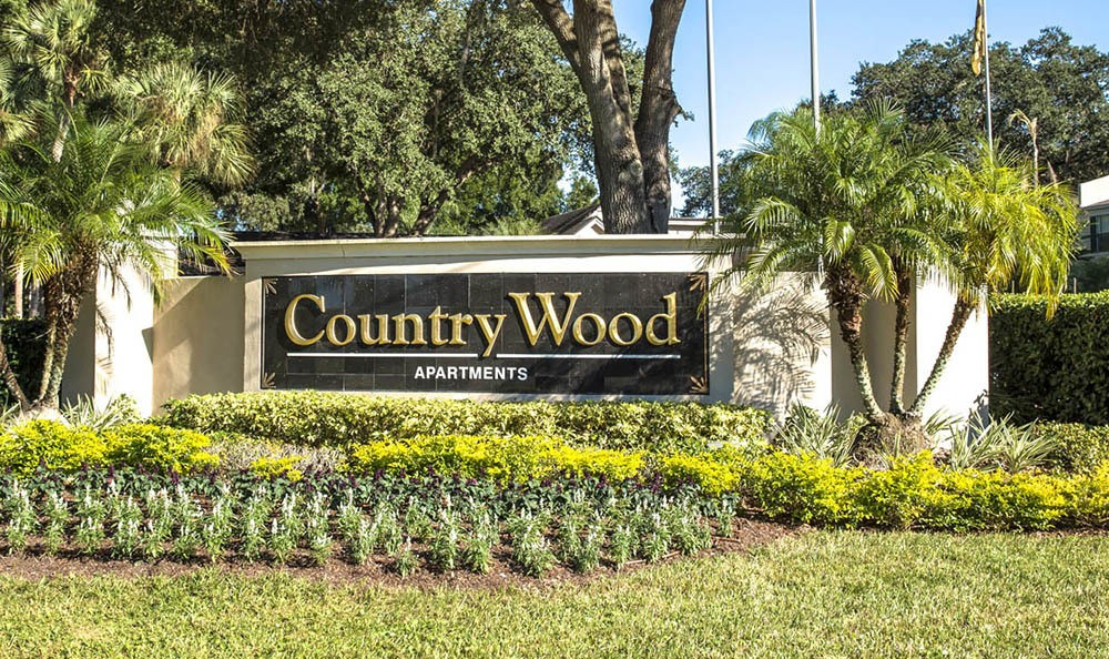 Signage at Countrywood Apartments in Tampa, FL