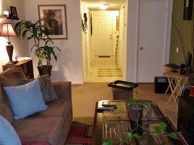 Spacious living rooms at Creekwood Apartment Homes
