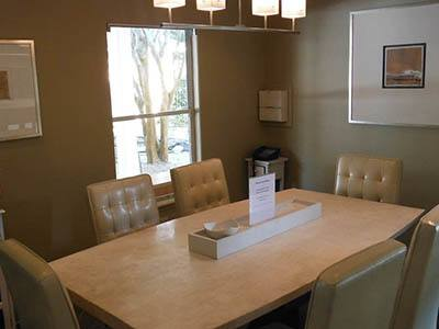 Beautiful dining rooms at Soleil Apartments