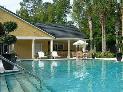 Relax Poolside at Soleil Apartments in Ponte Vedra Beach, FL.