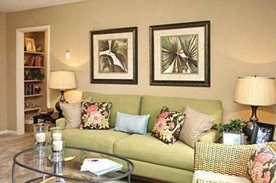 Living room at apartments in Douglasville