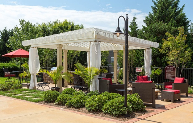 If you're looking for a little shade on those hot summer days, the gazebo at The Seasons at Umstead is a great place to cool off a bit