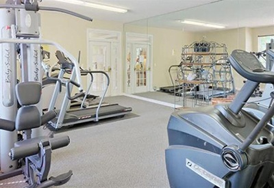 Residents of Highbrook enjoy a fully equipped fitness center among the numerous amenities at our luxury apartment community in High Point, NC
