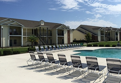 There's no better place to be on a warm sunny day than the swimming pool area here at Northwind Apartments luxury apartments!