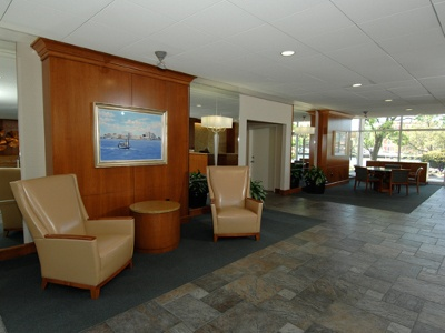 Lobby at Hague Towers in Norfolk