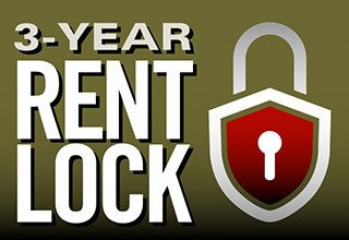 Lock in your rent for three years