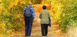 Residents enjoying a walk at the apartments for rent in Killeen