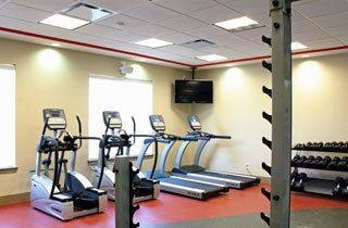 Clean fitness room at the apartments for rent in Fayetteville