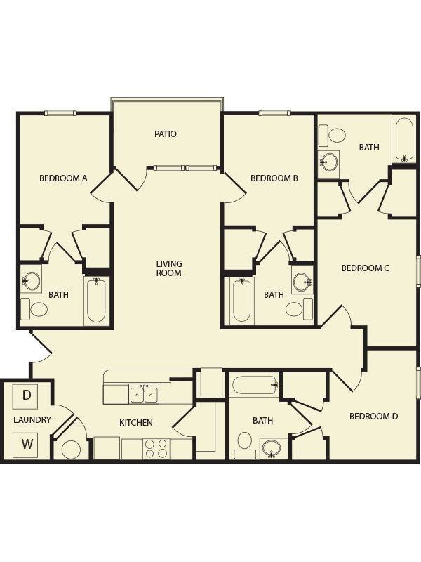 4 Bedroom 1 2 3 and 4 bedroom Apartments in Killeen TX Floor Plans  3. 2 Bedroom Apartments For Rent Killeen Tx  universalcouncil info