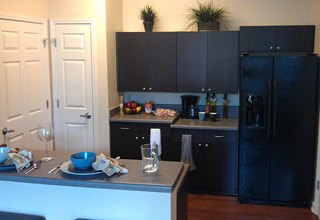 Modern kitchen at the apartments in Prince George