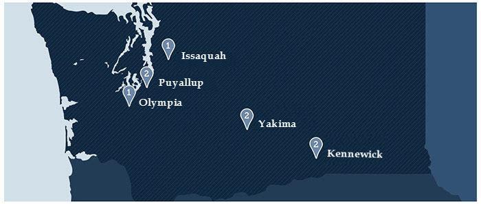 Locations for Cascadia Senior Living in Washington