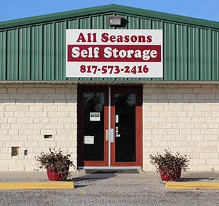 Granbury Self Storage Entrance