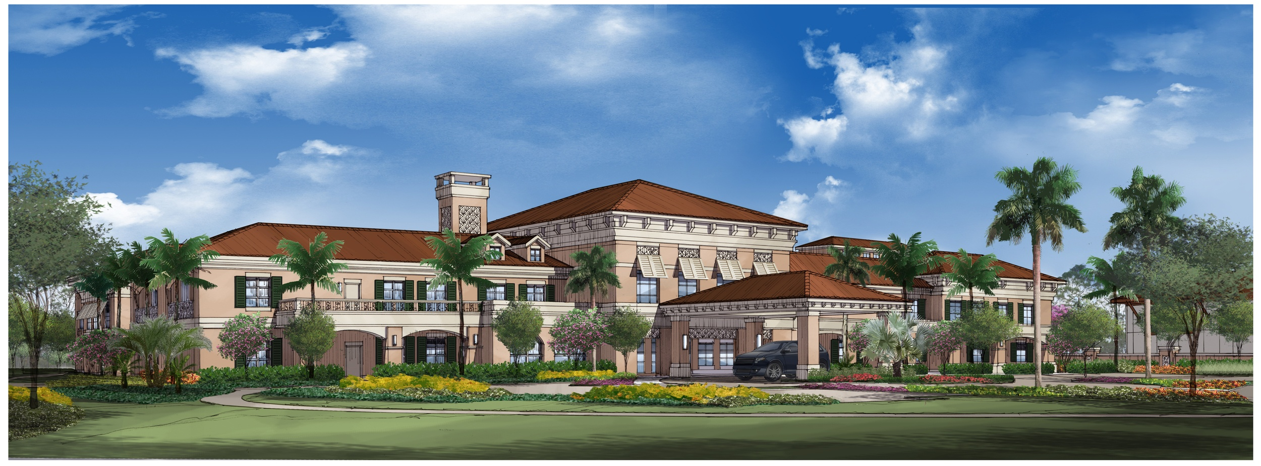 click here to view artist rendering - Palm Gardens Nursing Home Florida