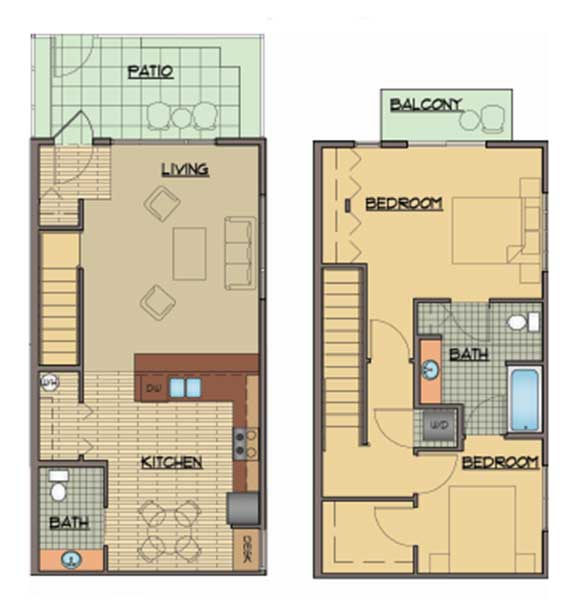 Luxury Studio 1 2 & 3 Bedroom Apartments & Townhomes in