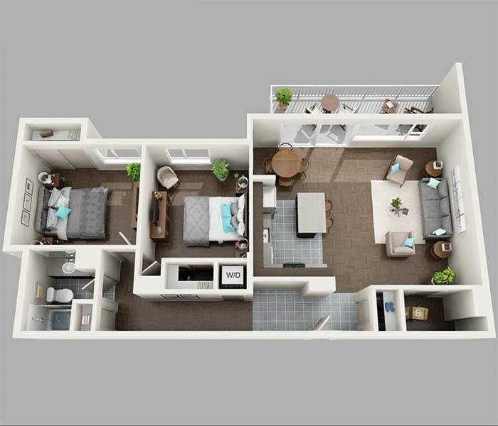 2 bedroom 2 1/2 bath floor plans 3