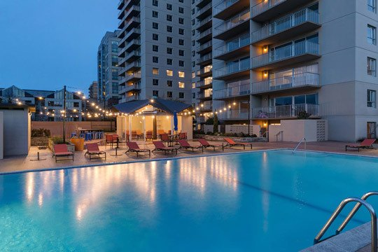 Pool Area at Panorama Apartments