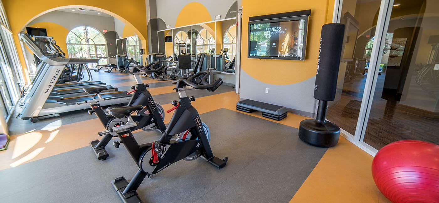 State of the art fitness at The Catherine Townhomes at Scottsdale