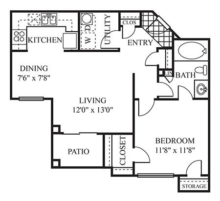 1, 2, & 3 Bedroom Apartment Floor Plans in Scottsdale | The ...